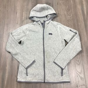 Patagonia Grey Full Zip Hoodie Better Sweater
